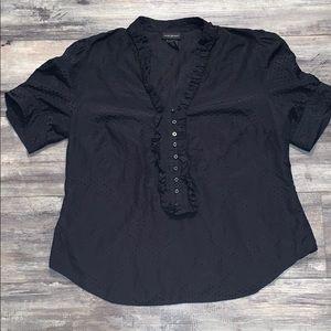 Lane Bryant Silk Top sz 14/16 Black Blouse